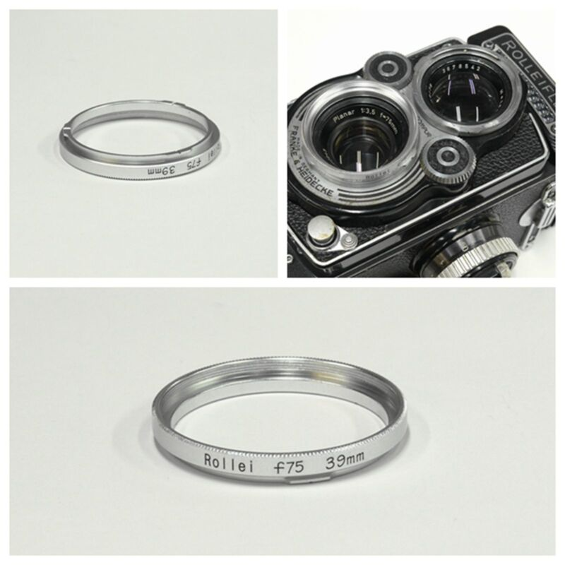 New Filter Ring For Rollei  Rolleiflex 75mm Lens To B39mm For camera Silver
