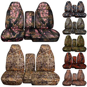 FORD RANGER TREE CAMO CAR SEAT COVERS 60 40 seat CONSOLE COVER CHOOSE