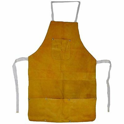 Chicago Electric 45193 Split Leather Welding Apron For Shop Grinding Etc J1-4