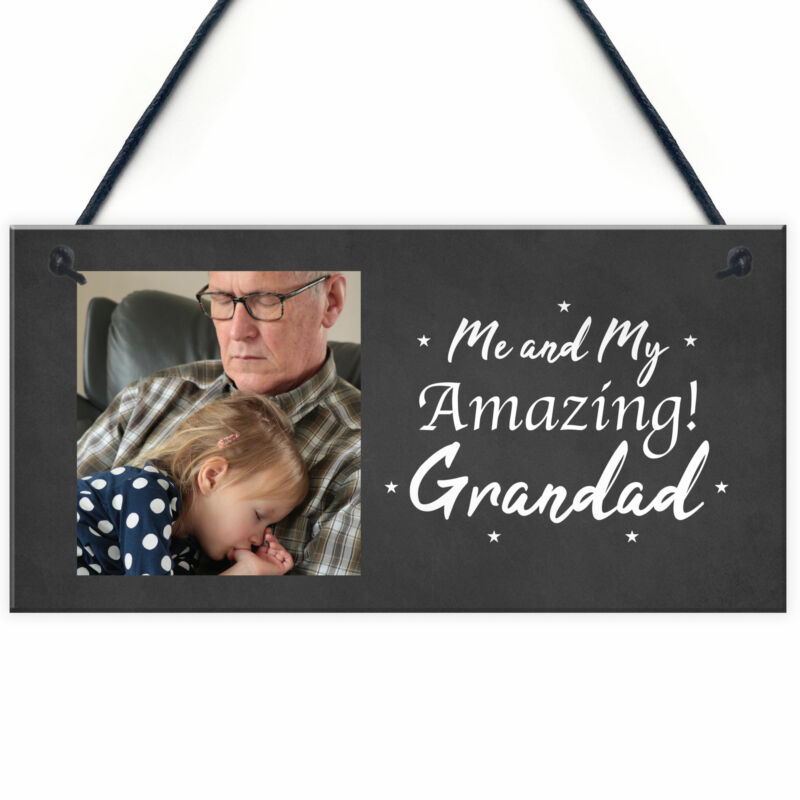 Personalised+Photo+Gift+For+Grandad+Christmas+Gift+For+Him+Novelty+Hanging+Sign
