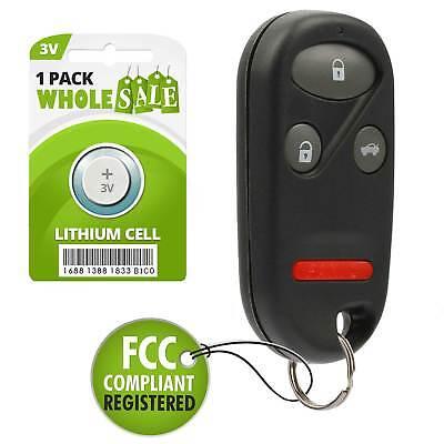 Replacement For 1997 1998 1999 2000 2001 Honda CR-V CRV Key Fob Remote Alarm