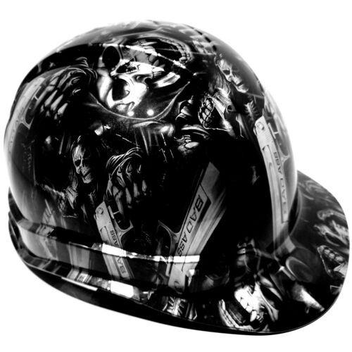 Hard Hat custom hydro dipped ,GRIM REAPER SHOOTER STEEL GREY OSHA APPROVED 1