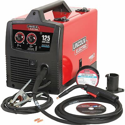 Lincoln Electric Easy Core 125 Flux-coredmig Welder With Spool Gun - 120v