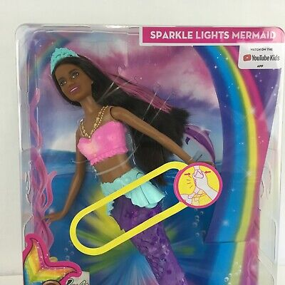 Barbie Dreamtopia Sparkle Lights Mermaid Nikki Doll With Light up tail