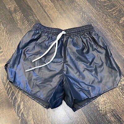 NOS Vtg 70s 80s BLACK Shiny Shorts AUGUSTA Glanz Nylon wet look NEW Mens LARGE