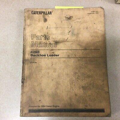 Cat Caterpillar 426b Tractor Backhoe Loader Parts Manual Book Catalog List 5yj