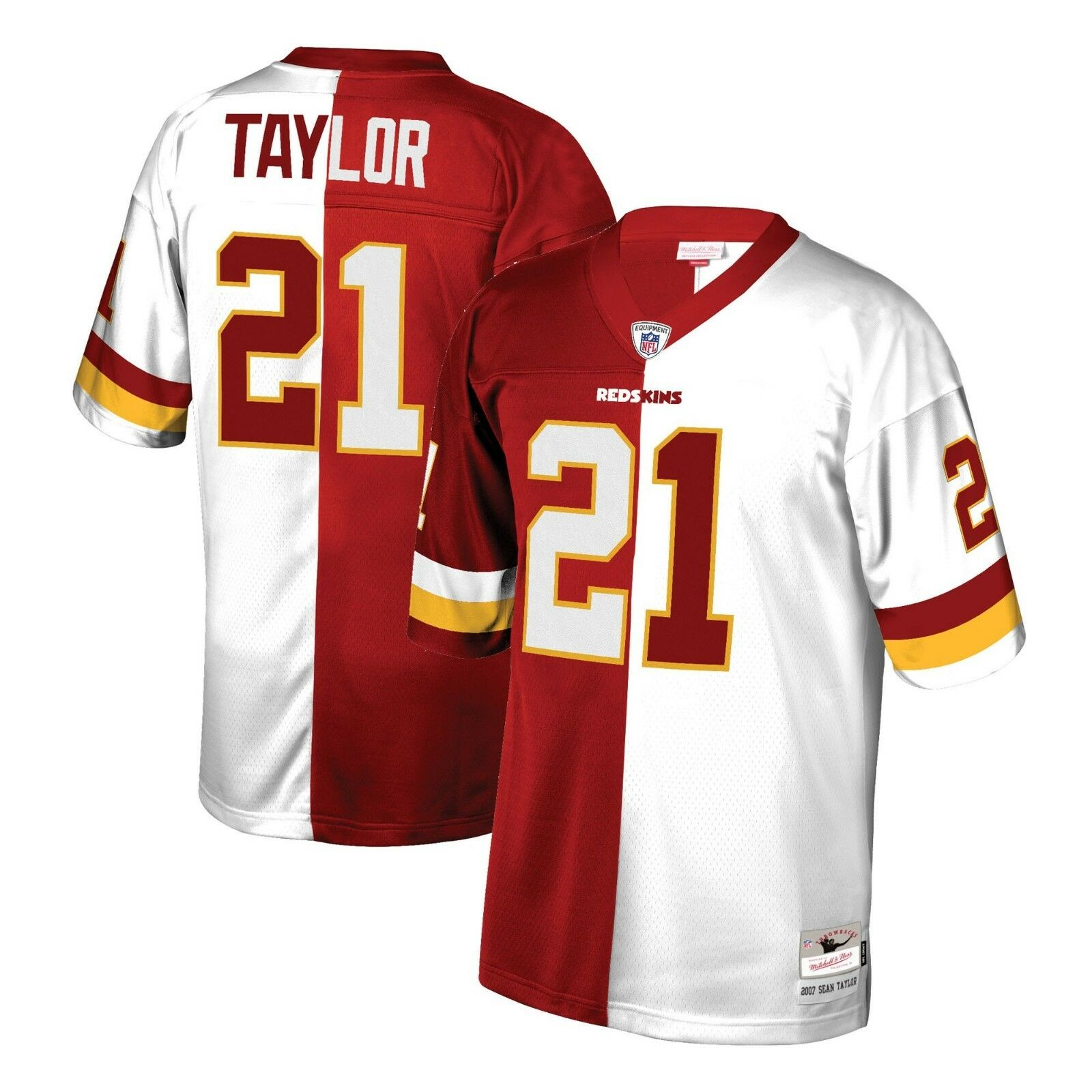Split Away Taylor About Sean Home Ness Mitchell Washington 2007 Legacy Redskins Jersey Details