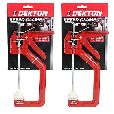 """2 x 6"""" 150mm Quick Grip Speed Clamp Caprenters Woodwork DIY Clamps Engineers"""