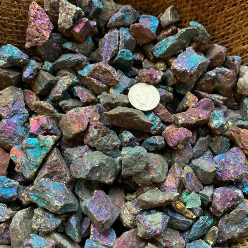 1000 Carat Lots of (SMALL) Peacock Ore Rough - Plus a FREE Faceted Gemstone