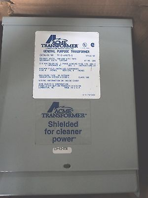 Tf249873s - Acme Transformer Distribution Transformer 3kva Tf-2-49873-s