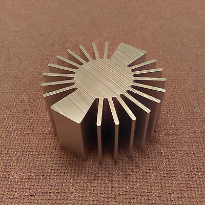 2 Inch Diameter Heat Sink Aluminum. Round. 2.0 X 1.0. Low Thermal Resistance.