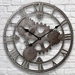 Gear Steampunk Retro Vintage Wall Clock Classic Antique Rustic Industrial Look 3