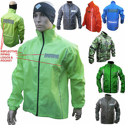 Cycling Rain Jacket Waterproof Hi Viz Cycle running equestrian rowing (AA)