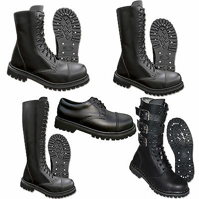 UK Ranger Phantom Boots Springerstiefel 38-47 Leder Gothic Stiefel Stahlkappe