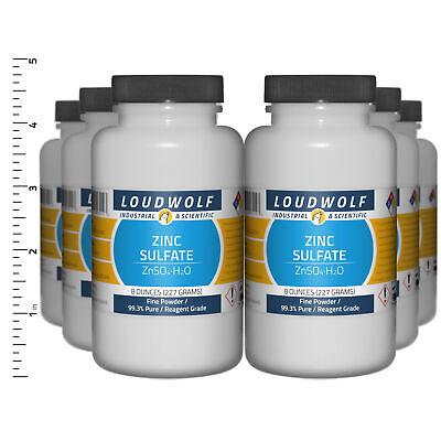 Zinc Sulfate 3 Lb Total 6 Bottles Reagent Grade Fine Powder Usa Seller