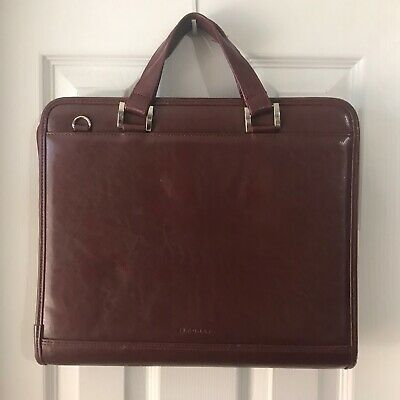Foray Red Carry Binder Notebook Business Folder Case