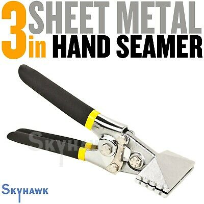 Sheet Metal Hand Seamer - 3 Inch Straight Handle Jaw Manual Metal Bender Tool