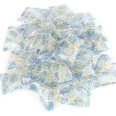 100 Packets 3g Grams Silica Gel Desiccant Pack Moisture Absorber Reusable