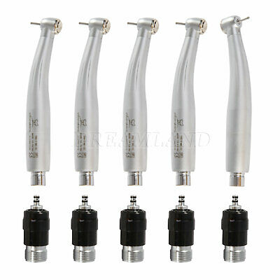 5 Dentist X Dental High Speed Handpiece 2hole Push Turbine Quick Coupler Fnsk