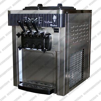 Table Top 22lh Soft Serve Ice Cream Frozen Yogurt Maker Commercial Machine