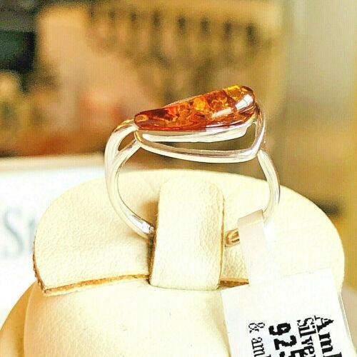 Genuine Russian Baltic Amber Ring Size 6,0 Vintage Butterscotch Egg Yolk Polish