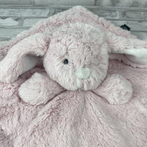Bunny Rabbit Pink White Security Blanket Lovey Plush Baby Plush Toy Fuzzy Soft - $17.09