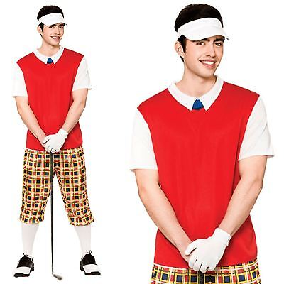 Golf Costume (Adult Funny Pub Golf Guy Crazy Golfer Golfing Stag Do Night Fancy Dress)