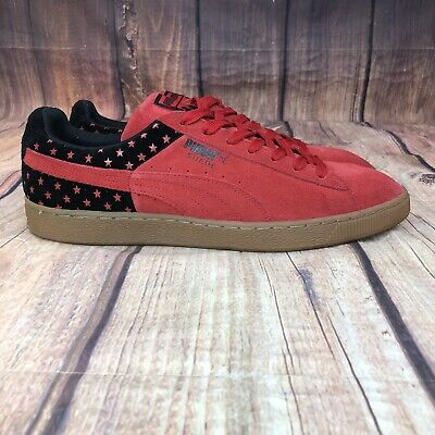 Puma Suede Classic Shoes Men Size 13 Puma With Stars Red & Black - NEW