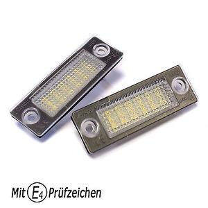 LED-Kennzeichenbeleuchtung-TUV-Frei-VW-Touran-Caddy-Golf-Plus-T5-Passat-Superb