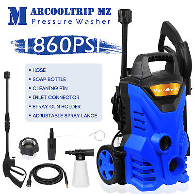 Electric Pressure Washer High Power Jet 1860 PSI/128 BAR Water Wash Patio Car