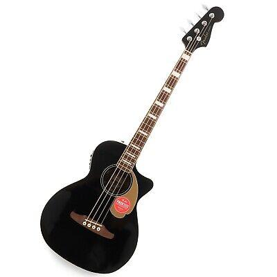 Fender Kingman Bass Acoustic/Electric Bass Guitar – Black