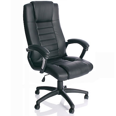 Chefsessel Schwarz Bürostuhl Drehstuhl Schalensitz Bürosessel Schreibtischstuhl