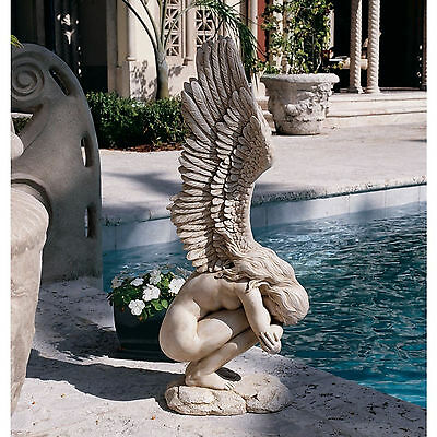 Weeping Angel Statue Crying Sculpture Outdoor Patio Yard Garden Lawn Home Decor