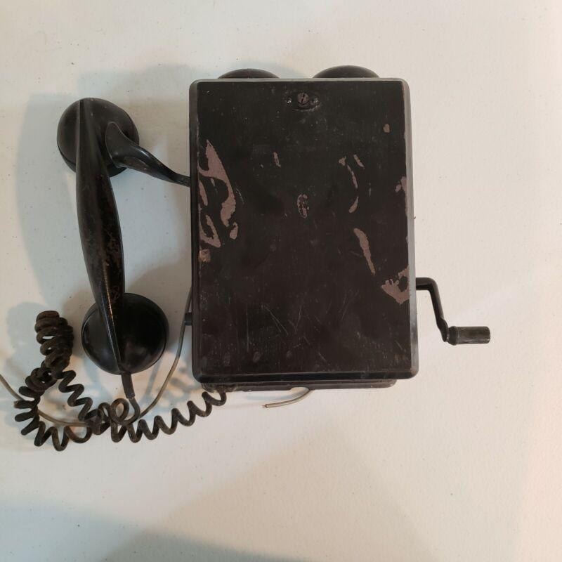 Vintage RR Railroad Crank Phone