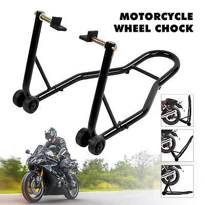 Motorcycle Sport Bike Rear Wheel Swingarm Paddle Lift Stand Adjustable Forklift ()