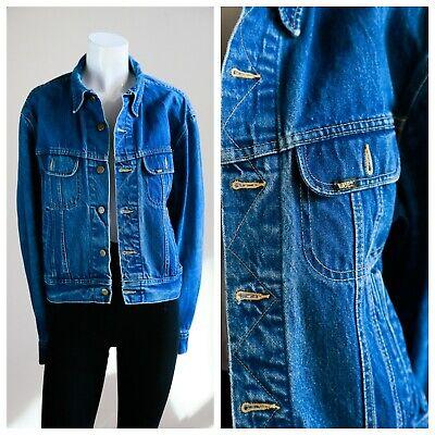 Lee Denim Jacket | Indigo Blue mens Denim Jacket 80s 90s | Vintage Jean Jacket for sale  Shipping to India