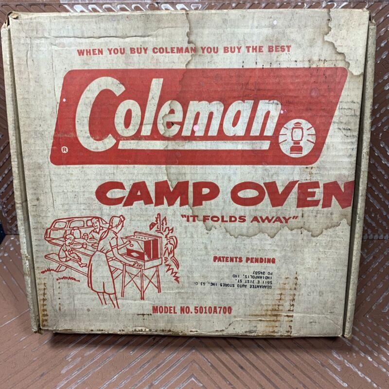 Vintage Coleman Folding Camp Oven 5010A700 In Original Box