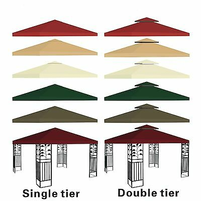 New 10x10' Replacement Canopy Top Patio Pavilion Gazebo Sunshade Polyester (Replacement Canopy Covers)