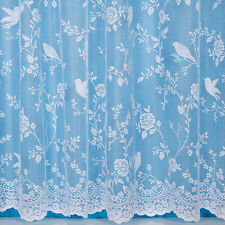 Robyn Bird Design Net Curtain - Width Sold By The Metre - Voile & Net Curtains