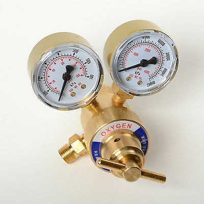 Oxygen Gas Regulator Welding Cutting Torch Pressure Gauge Fits Victor Brass