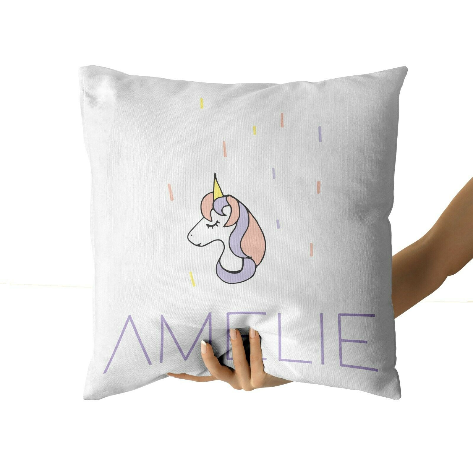 Personalised Baby Unicorn Kids Childrens Cushion Cover Pillow Case /& Filling