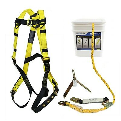 Spidergard Sp-rfkit Construction Harness With Leg Tongue Buckle Straps And 4 Pie