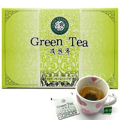 Pure 100% Korean Green Tea 100 Tea bags (1.0g x 100 bags) Jakseol cha