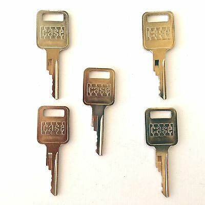 5 Case - Bobcat Backhoe Skidsteer Heavy Equipment Keys-with Logo