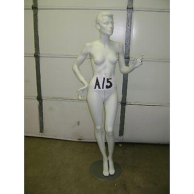 Chalk White Fiberglass Female Mannequin W Base A15