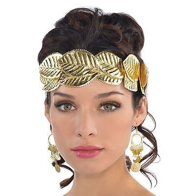 griechische römische Göttin Gold Laurel Blätter Kranz Kopfband toga-kostüm