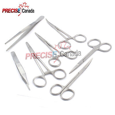 Suture Insertion Instrument Tray 6 Stainless Steel Instruments