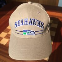 d818c99931f19 New without tags Vintage Seattle Seahawks Castrol Hat Cap Tan Old Logo