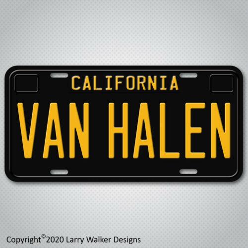 Van Halen Eddie Van Halen Black California Aluminum License Plate Tag New