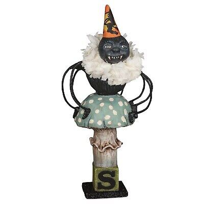 Bethany Lowe Halloween Spider On Toad Stool HH9219 By Debra Schoch